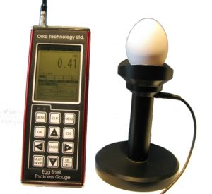 eggshell thickness gauge with stand